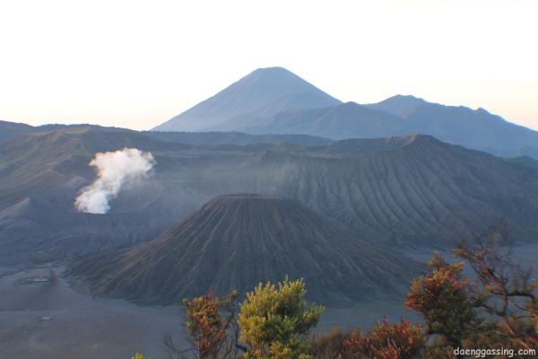 Gunung Bromo di pagi hari