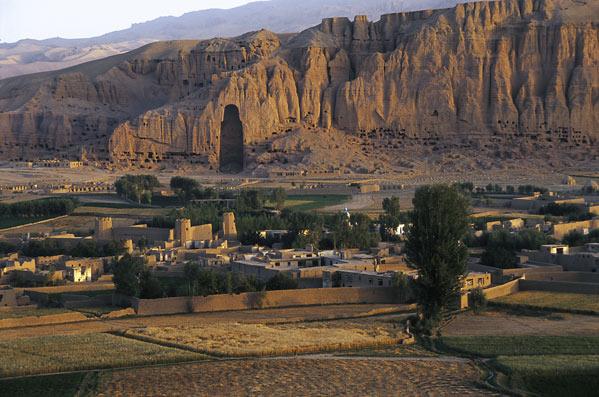 Pemandangan dari distrik Bamyan, Afghanistan