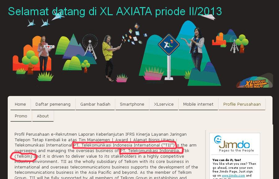 Ini website XL atau Telkom sih?
