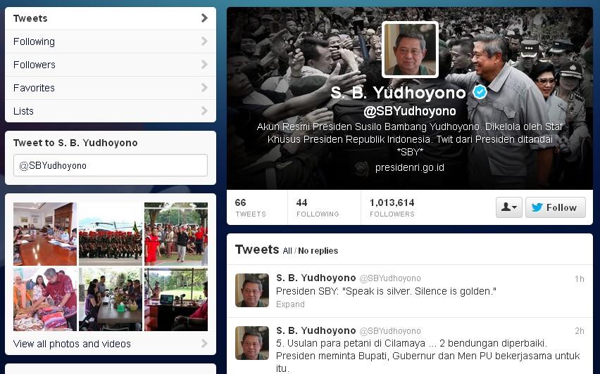 Akun twitter @SBYudhoyono
