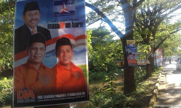 Masa depan Makassar? Penuh dengan wajah memuakkan di pohon?