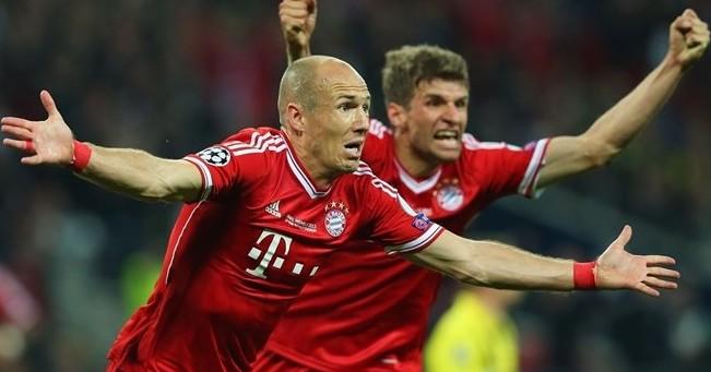 Kegembiraan Robben Selepas menciptakan gol bagi Muenchen (foto: UEFA.com)