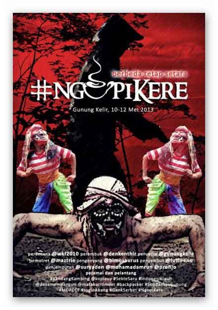 Poster Ngopi Kere (sumber:Gunungkelir.com)
