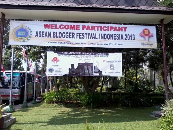 Spanduk Asean Blogger Festival (foto: Asmarie.blogdetik.com)