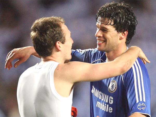 Robben dan Ballack ketika masih berseragam Chelsea
