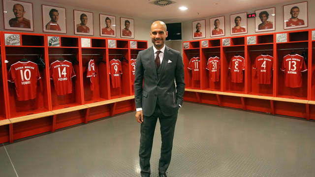 Pep Di Ruang Ganti Muenchen (sumber: Guardian.co.uk)