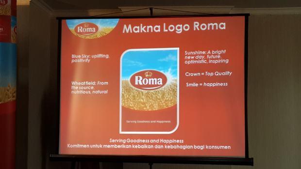 Logo baru biskuit Roma