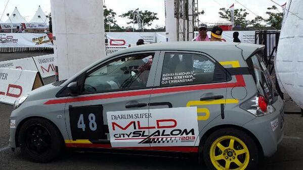 Salah satu peserta DSM City Slalom Makassar