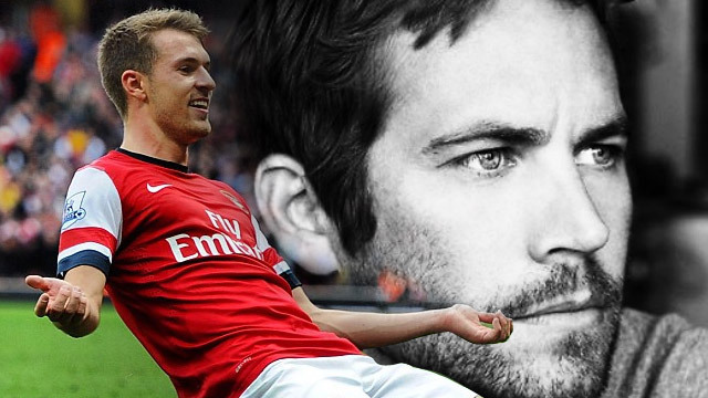 Aaron Ramsey dan Paul Walker