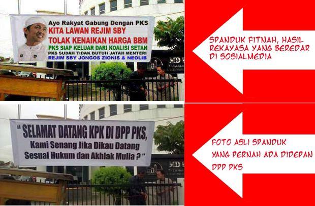 Foto rekayasa yang mendiskreditkan PKS