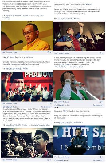Ragam berita daring bertema politik