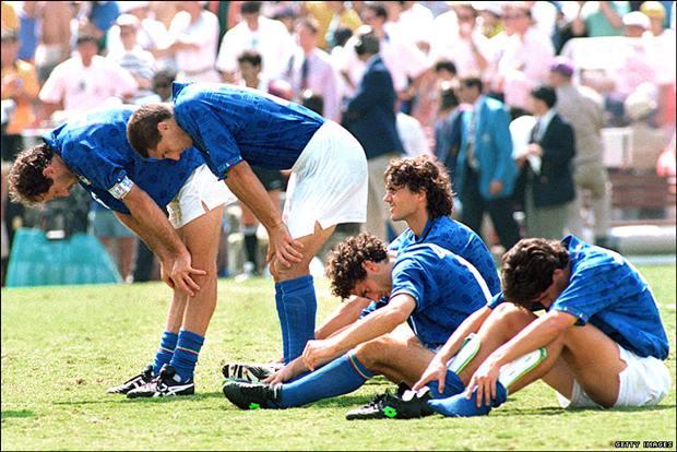 Kesedihan Pemain-Pemain Italia di WC 1994