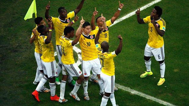 Selebrasi pemain Kolombia (FIFA.com)