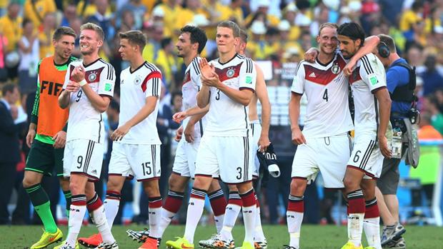 Tim Nasional Jerman Setelah Mengalahkan Perancis [foto; FIFA.com]