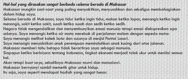 Beginilah impresi Hyeongman tentang Makassar
