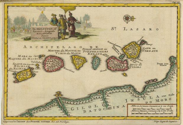 Peta Maluku tahun 1707 (sumber: princeton.edu)