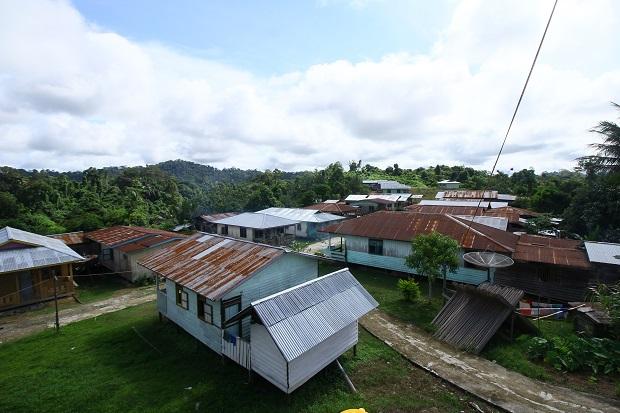 Desa Punan Adiu yang asri dan permai