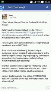Tidak ada nama orang (selain Jokowi) yang disebut di status ini kan?
