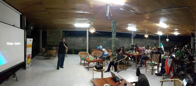 Salah satu acara komunitas yang pernah digelar di Kedai Pojok Adhyaksa