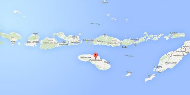 Letak Sumba di Peta Indonesia