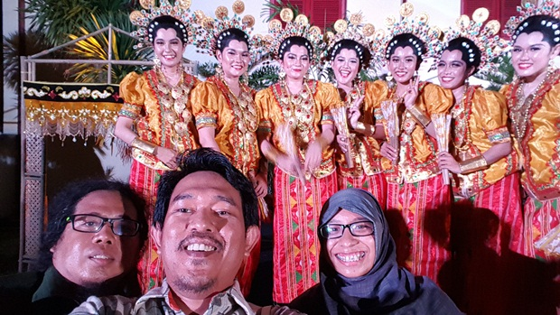 Tiga wakil dari Blogger Makassar