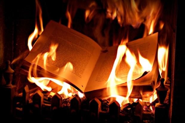 membakar buku