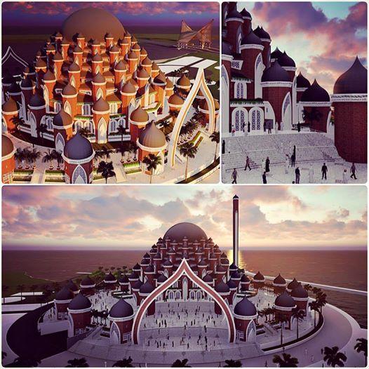 Masjid di CPI yang dirancang Ridwan Kamil