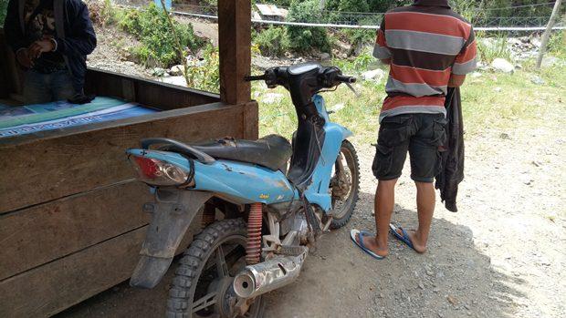 Ini dia motor yang mengantar kami