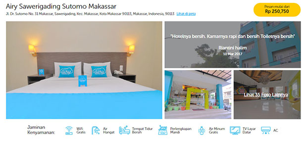 airy rooms di Makassar